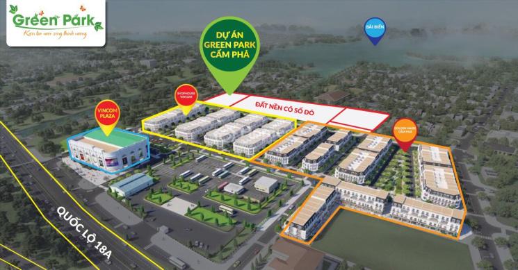 CC bán 02 lô liền kề LK7.11 - LK7.12 3MT Green Park thuộc tổ hợp Vincom Cẩm Phả tổng DT 156m2