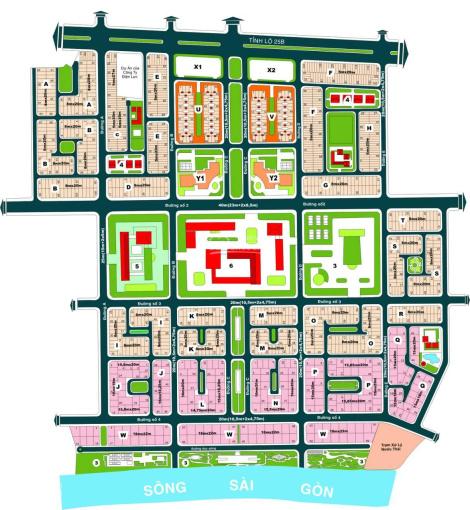 Bán đất trục Đặng Như Mai, khu Huy Hoàng, Q. 2, DT: 15x18m, giá chỉ: 85tr/m2. LH: 0902 293 310