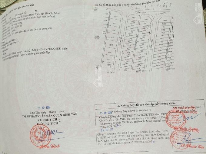 Cần bán lô đất 6x19m, đường Số 3C, khu dân cư Vình Lộc, đường 12m