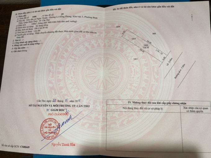 Bán nền đường số 4 và đường số 33 khu dân cư Ngân Thuận (Stella Mega City Cần Thơ) - đã có sổ đỏ