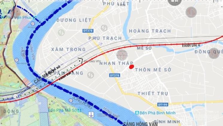 Bán mảnh đất mặt đường 10m MT 8,2m nở hậu Mễ Sở, Văn Giang, cách UBND xã 150m, chợ Mễ 800m