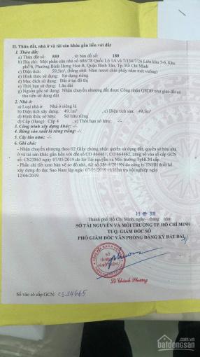 Bán đất thổ cư hẻm Cây Cám, LK 5-6, Bình Hưng Hòa B. LH 0932773073