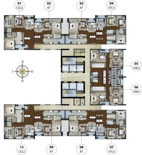 Bán chung cư 3PN, 4PN Ngoại Giao Đoàn, diện tích 95m2 157m2 nhận nhà ở ngay
