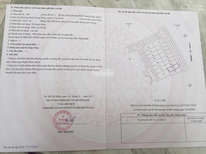 Bán đất sổ hồng mặt tiền đường 33 - Dự án Đông Thủ Thiêm quận 2 - Đất đẹp đường lớn giá tốt