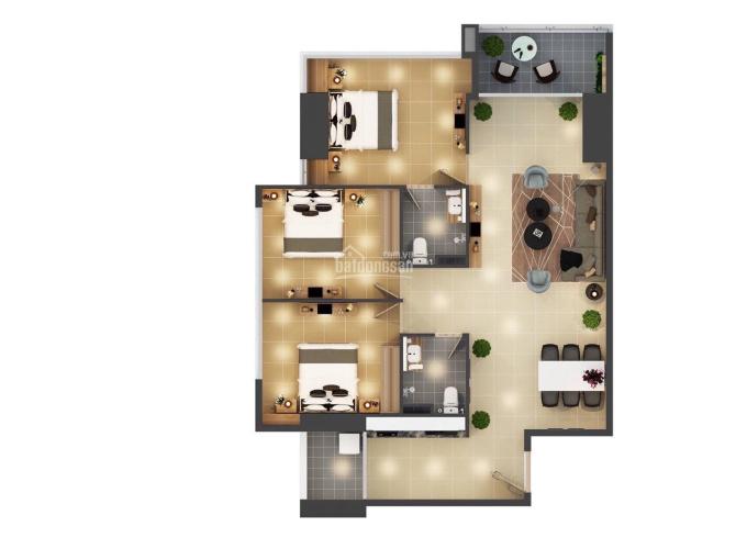Bán căn hộ Phoenix 3 phòng ngủ view hồ