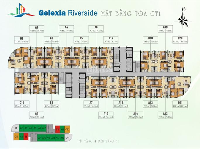 O933269345 (Hùng) bán CC 885 Tam Trinh, căn tầng 1016 76m2 và 1020 89m2, giá 19tr/m2 bao tên