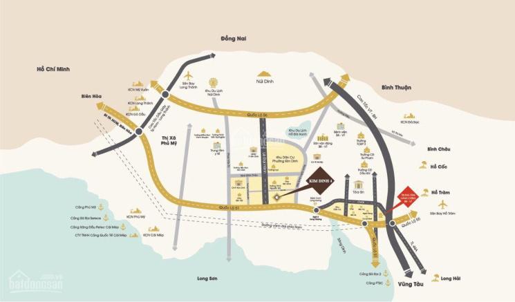 Hot! Bán gấp 1 nền góc nằm ngay mặt tiền đường, P. Kim Dinh, full thổ cư LH: 0908.069.533
