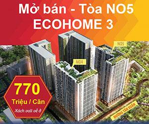 Miễn phí tư vấn hồ sơ, Ecohome 3, gốc 16,5 triệu/m2 đã VAT, DT 47 - 70m2, LH: 098.333.9904