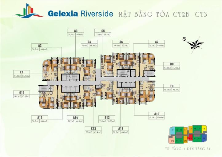 Bán cắt lỗ chung cư 885 Tam Trinh, tầng 1012, DT: 70,2m2, giá 1,4 tỷ, gặp chủ nhà: A Hải 0979584600