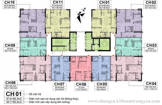 Chính chủ cần tiền bán chung cư A10 Nam Trung Yên, tầng 1508, DT 102m2, giá 28tr/m2, O979.584.600