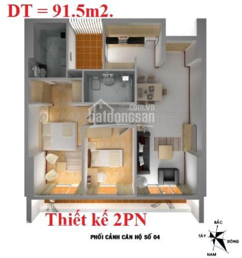 Chính chủ bán căn hộ 2PN (87 m2), thuộc tòa VP2-VP4 bán đảo Linh Đàm, ban công Đông Nam nhìn hồ.
