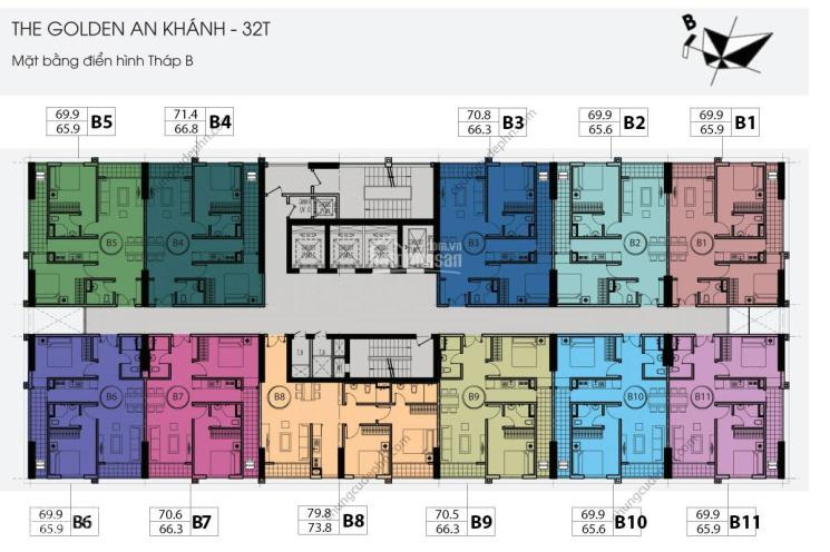 (O979584600) Cần bán gấp tầng 1203, DT 92.2m2, CC Golden An Khánh, giá cắt lỗ sâu 1,75 tỷ, full NT