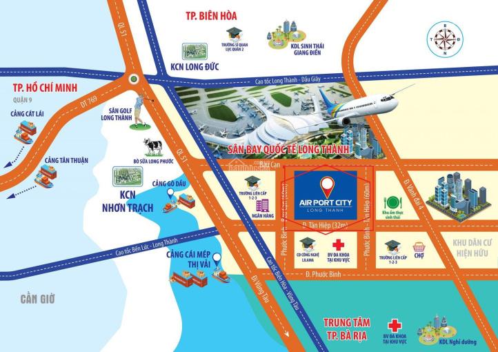 Long Thành Airport City lô đất vàng hiếm hoi còn sót lại cách sân bay 4,7km giá chỉ từ 9 - 12tr/m2