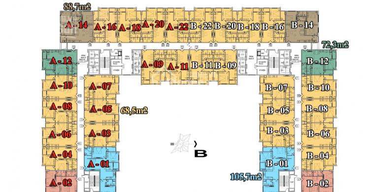 CC bán cắt lỗ CHCC Athena Complex Xuân Phương 1501 - 101m2, 3PN giá 19.5tr/m2, 0901751599