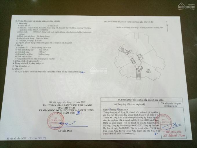 Chính chủ bán căn hộ 505 E4 Yên Hòa Park View, 3 phòng ngủ, 2wc, 122m2, LH 0901 707055