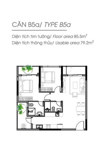 Celadon City - bán căn hộ cao cấp khu Diamond 2PN 2WC, 85m2, giá 4.150 tỷ, mới thanh toán 10%