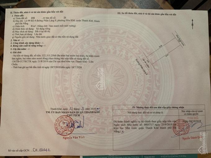 Bán đất Quận Thanh Khê, Phần Lăng 9