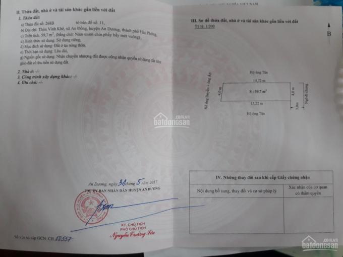 Bán đất tại An Đồng - Gần khách sạn Nam Phong. LH: 0973.569.591