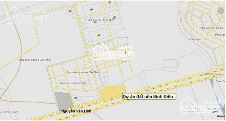 Tôi cần bán lô đất nền tại KDC Bình Điền, ngay chợ Bình Điền, Q8, giá 2tỷ1/ 80m2, sổ hồng riêng  ảnh 0