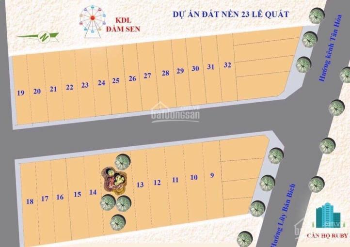 Bán đất phân lô 23 Lê Quát gần Đầm Sen giáp Q. 11, DT: 4x18m, giá 5.8 tỷ TL, LH 0938 504 555