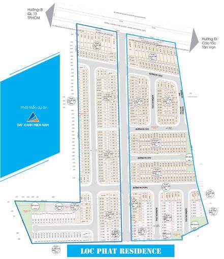 Bán nhanh 2 lô đất nằm trục chính lock B2 dự án Lộc Phát Residence Thuận Giao, Thuận An, Bình Dương ảnh 0