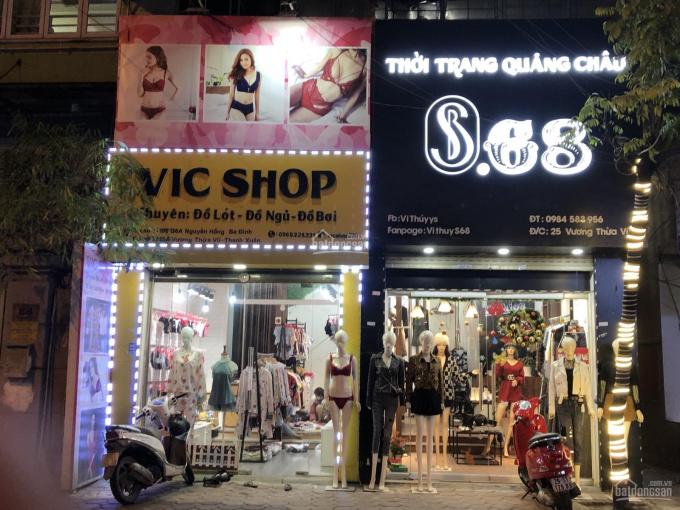 Cho thuê cửa hàng tại 25 Vương Thừa Vũ, mặt tiền 3m, hai tầng, mỗi tầng 30m2. Đi riêng chủ