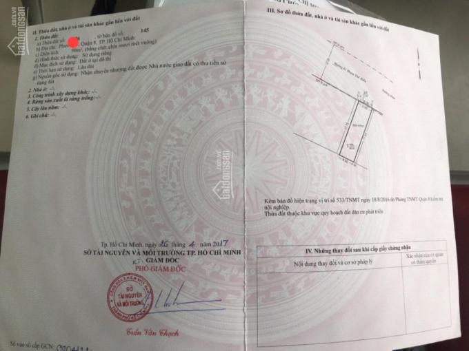Bán đất đường Phạm Thế Hiển, phường 7, quận 8, TP.HCM