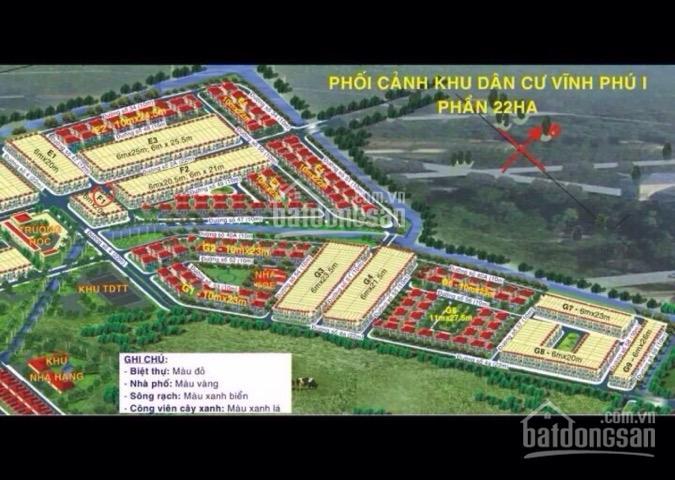 Chủ gửi bán 2 thửa đất KDC Vĩnh Phú 1 (Vũ Kiều) giá đầu tư
