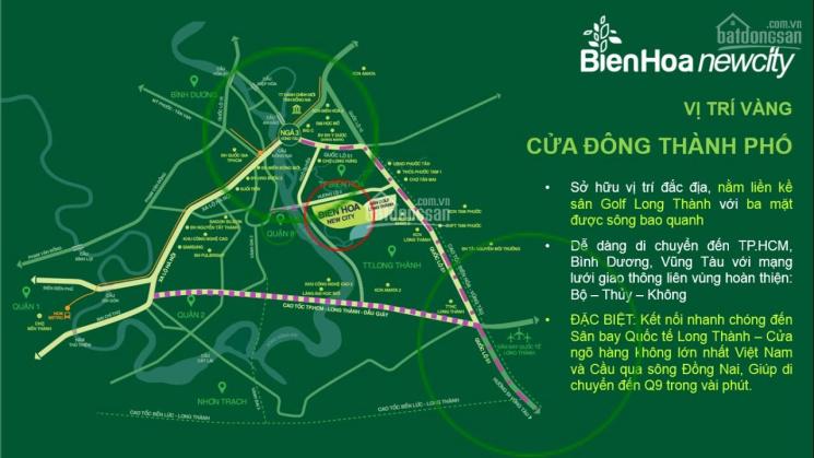 Biên Hòa New City lộ giới 15m, giá chỉ 1,884 tỷ/100m2, cơ hội đầu tư vô cùng lớn, 0907036186