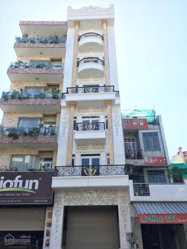 Cho thuê nhà mặt tiền đường Tân Sơn Nhì, DT: 5x20m, 1 hầm, 1 trệt, 1 lửng, 5 lầu trống suốt
