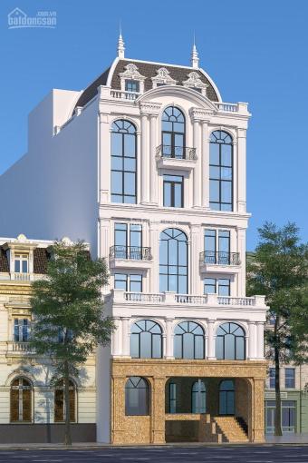 Cho thuê toà nhà mới 6 tầng MP phố Trung Hoà, DT 450m2, thang máy, thông sàn. Giá thuê 340tr/th