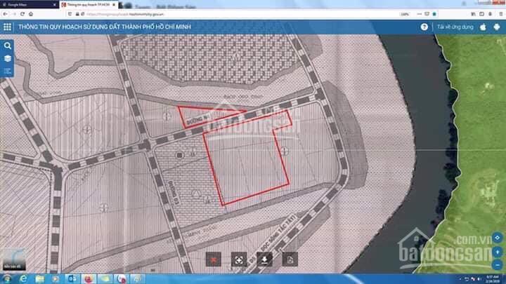 Bán đất Quận 9, TP.HCM gần 2ha view 3 mặt tiền sông Tam Đa, Quận 9, P. Trường Thạnh, Quận 9
