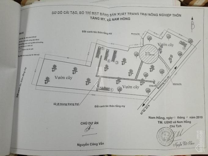 Bán trang trại 1,5 hecta làm nhà hàng sinh thái ở Tằng My - Nam Hồng - Đông Anh