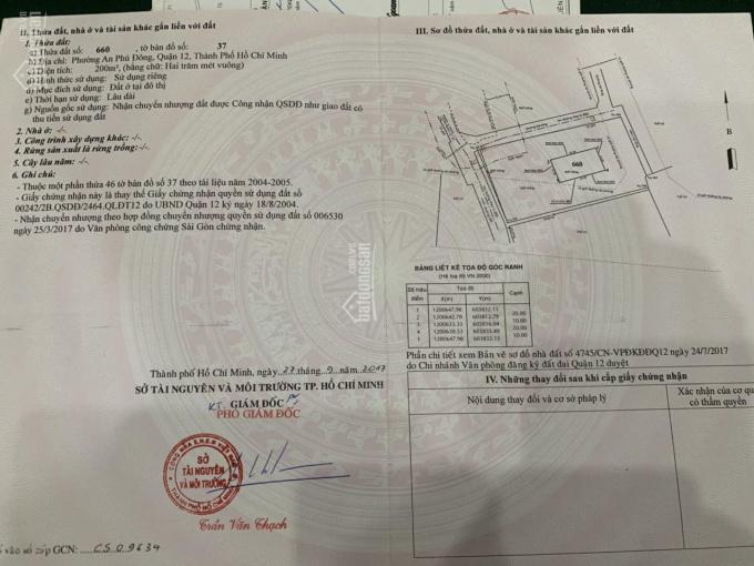 Cần bán 1940m2 đất phường An Phú Đông, Quận 12