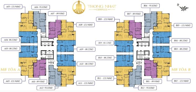 Tôi cần nhượng lại căn hộ 122m2, 3 PN CC Thống Nhất Complex, ban công Đông Nam - hỗ trợ vay vốn ảnh 0