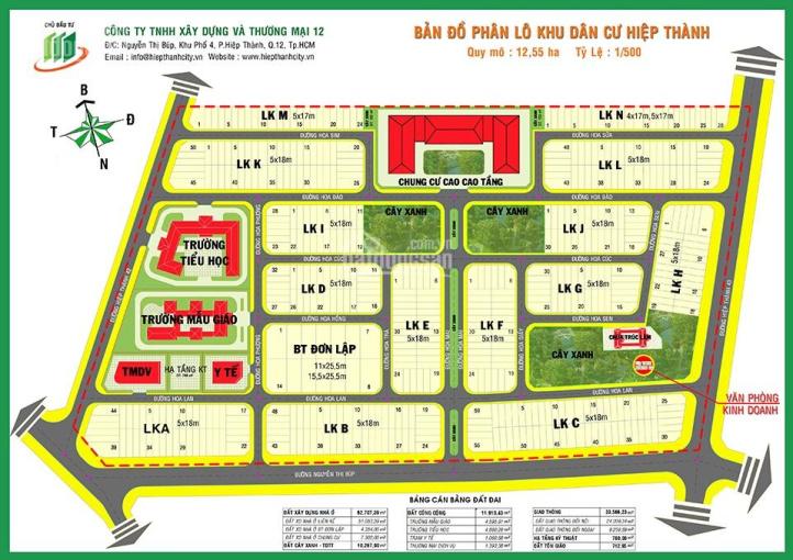 Bán gấp lô đất Hiệp Thành City, Nguyễn Thị Búp, Q12, 100m2, giá từ 23tr/m2, có sổ. LH: 0377557882