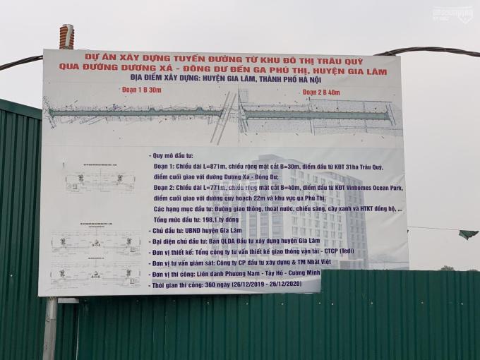 Bán mảnh đất tại 31ha Trâu Quỳ, trục chính, lô góc đẹp nhất Gia Lâm