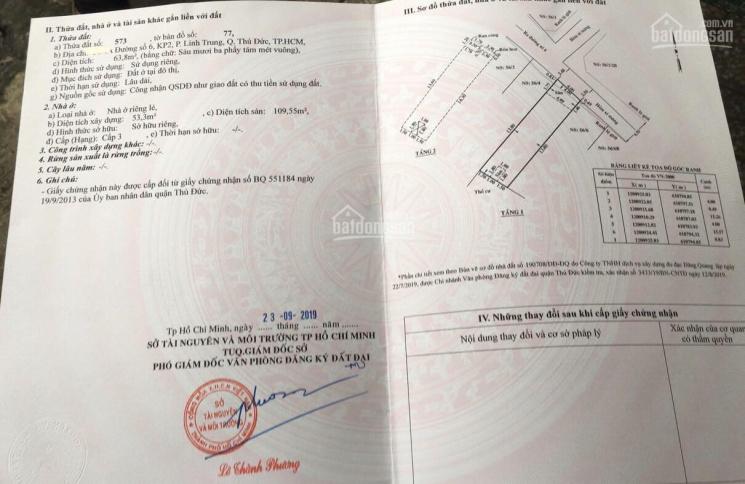 Bán nhà 1T, 1L, 64m2 ngày đường 6, Linh Trung sát đường Hoàng Diệu 2, giá 4,7 tỷ