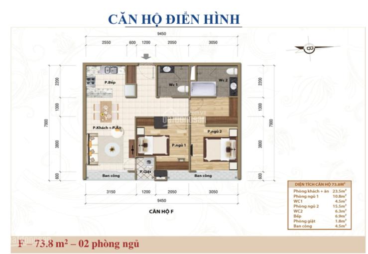 Cần bán căn hộ CT Plaza Minh Châu, căn hộ trung tâm Quận 3, gần sân bay 2 PN, 2 WC