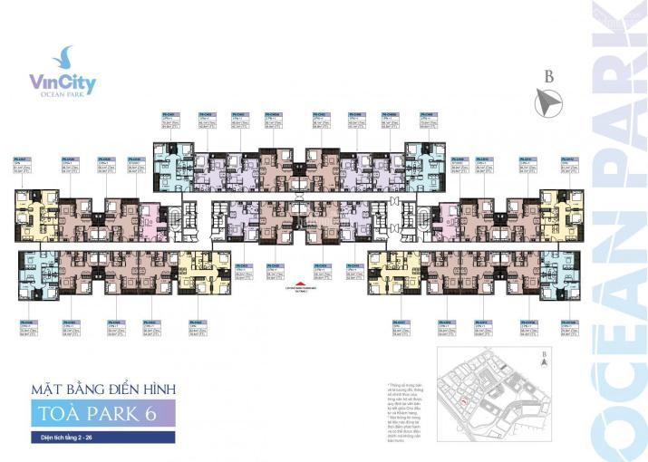 Bán căn hộ Vinhomes Ocean Park tầng đẹp 59m2, 2PN, hướng TN, giá 1.57 tỷ