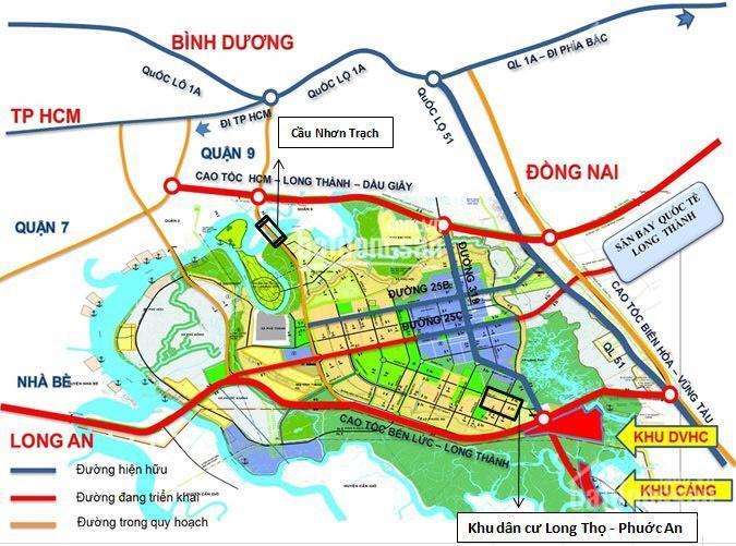 Bán nền 7x25m thuộc dự án HUD Nhơn Trạch, Đồng Nai, giá đầu tư hợp lý ở thời điểm này, sổ riêng