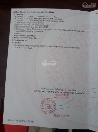 Bán đất giá rẻ, xã Lộc Châu, TP Bảo Lộc, 850tr, 210m2