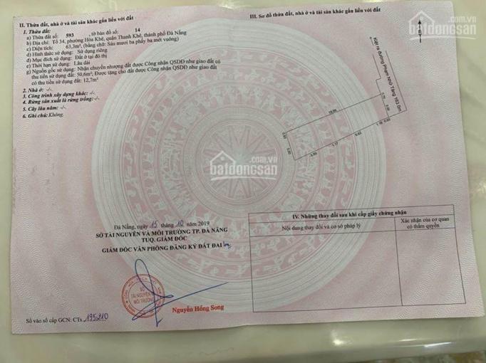 Bán lô đất kiệt Phạm Nhữ Tăng, 63m2, giá 1 tỷ 730 thương lượng
