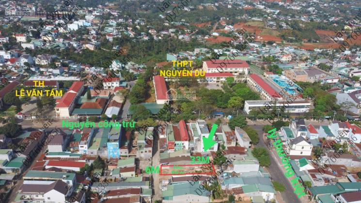 Bán đất thổ cư hẻm 186 Nguyễn Công Trứ, TP Bảo Lộc 6x33m, 1 tỷ 7 đối diện trường THPT Nguyễn Du