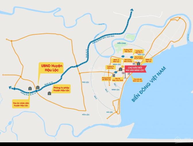 10 suất đặt chỗ sở hữu nhà 2,5 tầng kinh doanh & ở tại Chợ cá Minh Lộc, đẹp nhất Hậu Lộc chỉ 1 tỷ