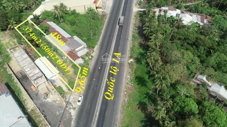 Bán đất mặt tiền Quốc lộ 1A gần chợ Cái Tắc - 374m2 giá 1,9 tỷ ảnh 0
