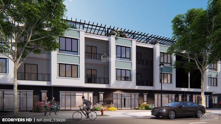 Shophouse kinh doanh Ecorivers HD trục đại lộ Ánh sáng, mặt tiền 7,5m, giá đầu tư