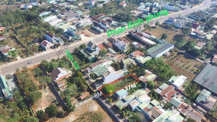 Bán đất hẻm 297 Phan Đình Phùng TP Bảo Lộc hẻm nhựa thông thuộc đường quy hoạch 16m thông khu hành