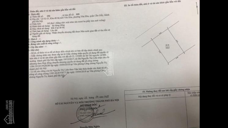 Bán đất 3 mặt tiền đường Trần Kim Xuyến - ngay Dịch Vọng mặt tiền 20m. DT 320m2 * 68 tỷ, 0356866444