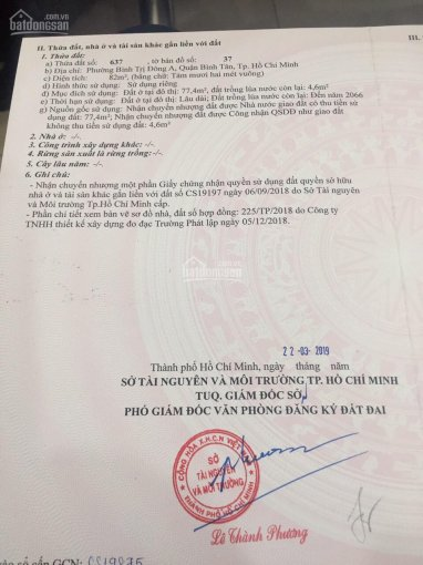 Bán đất đường 10m hẻm 907 Hương Lộ 2, 160m2 giá 8.5 tỷ; LH: 0907067056 Trí Chải